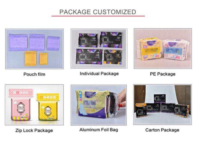 luxury sanitary products long customized for female