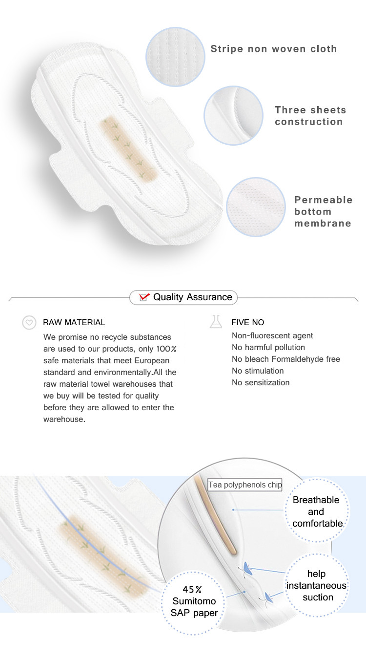 Niceday pads sanitary pads in spanish manufacturers for female-2
