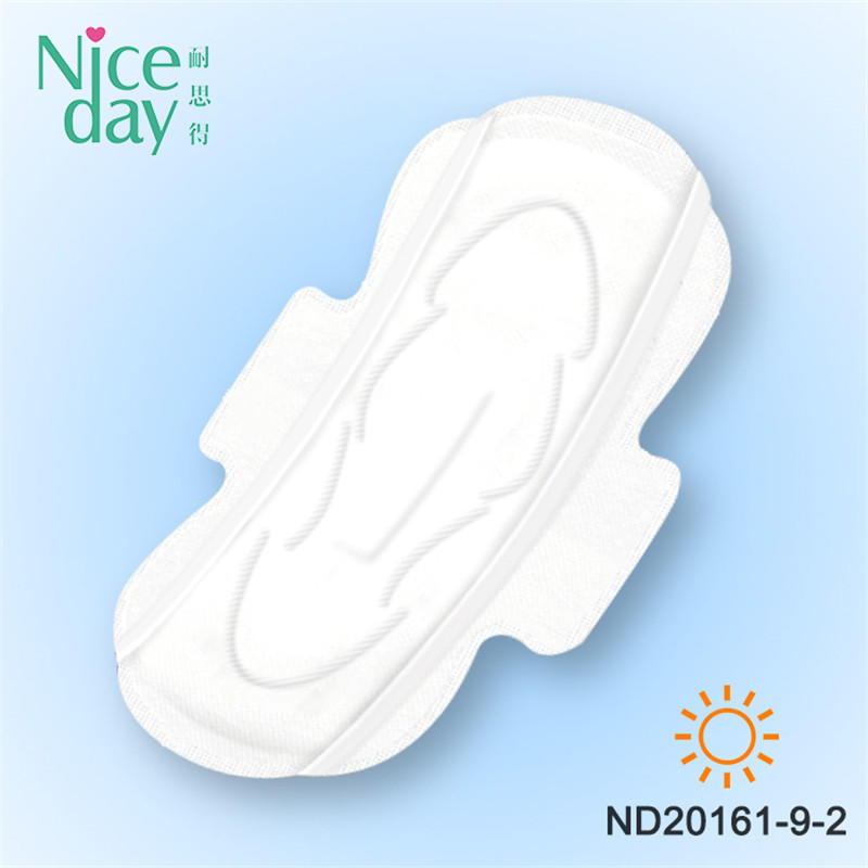 High Quality Disposable Organic Cotton Night Use Winged Sanitary Pads Pure Cotton Sanitary Napkins With Cheap Price ND20161-9-Niceday