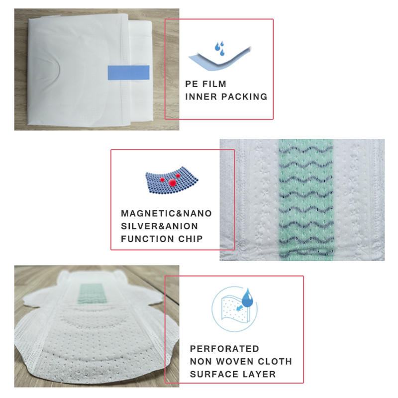 Good Cloth Menstrual Pads product market china suppliers Night Use Disposable Breathable Cotton sanitary Napkins For Women  ND20161-17-Niceday