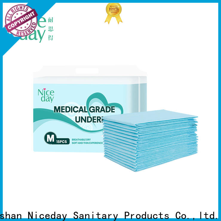 Niceday blue large bed pads disposable supply for adult