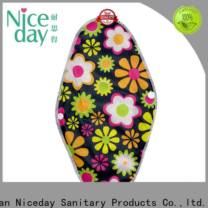 Niceday organic bamboo sanitary napkins brand for girl
