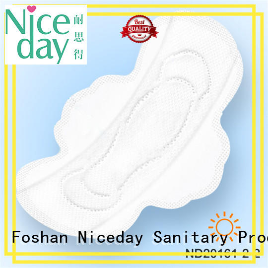 Niceday luxury disposable sanitary napkin fiber for female