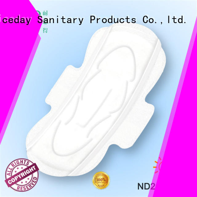 Niceday perforated menstrual pads branded for ladies