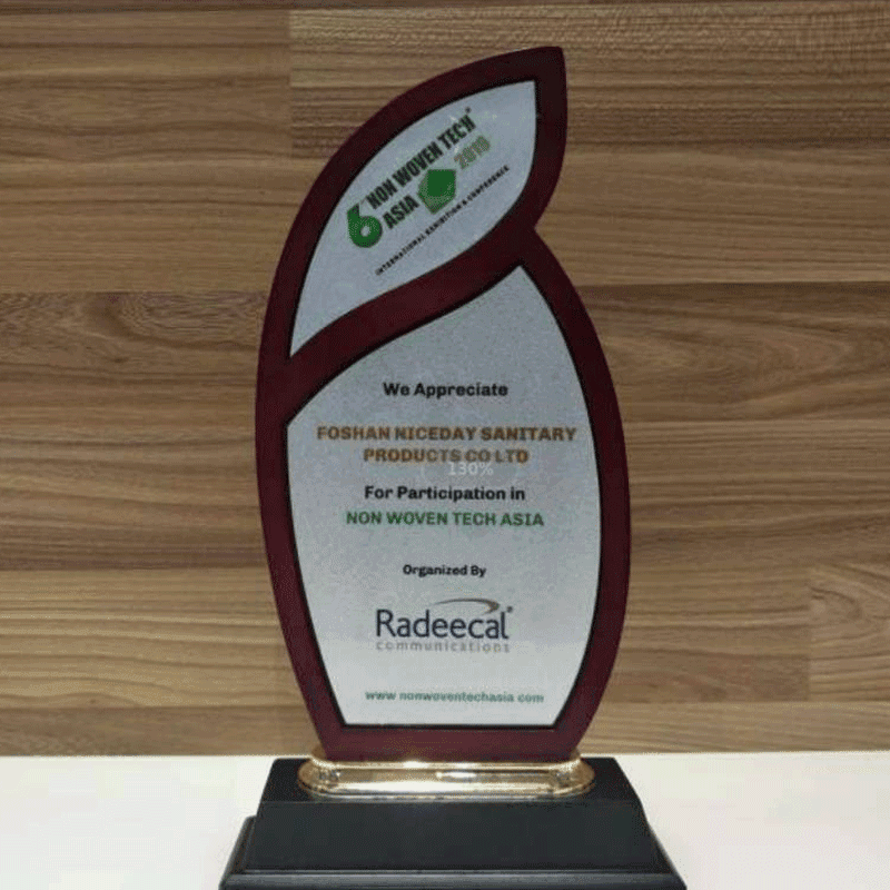 Awarded the honor of India non-woven exhibition