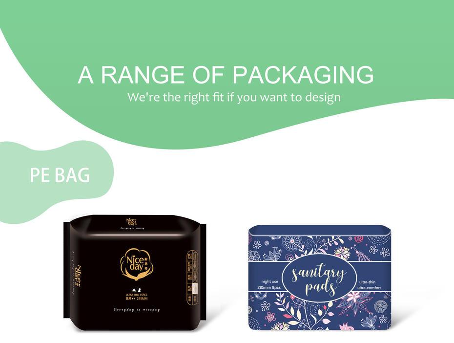 A range of packaging