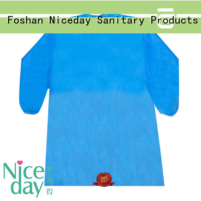 Niceday disposable work coveralls supplier for hospital
