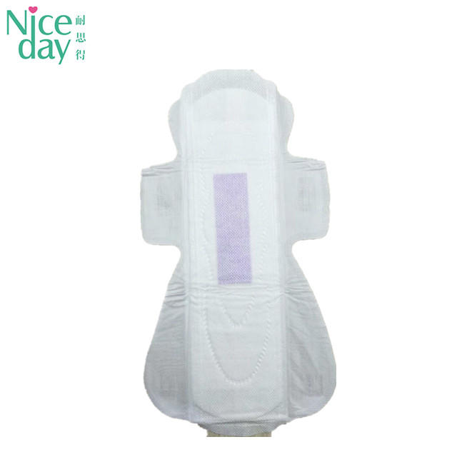 OEM  non woven fabric sanitary napkin overnight lady care blue chip  sanitary pad export to Tanzania ND20181-27-Niceday