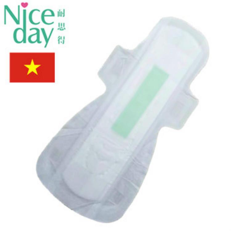 Icy cool feeling healthy sanitary napkin pads high absorbency aloe sanitary napkins in bulk hot sale in thailand NDDC20191-1-3-Niceday