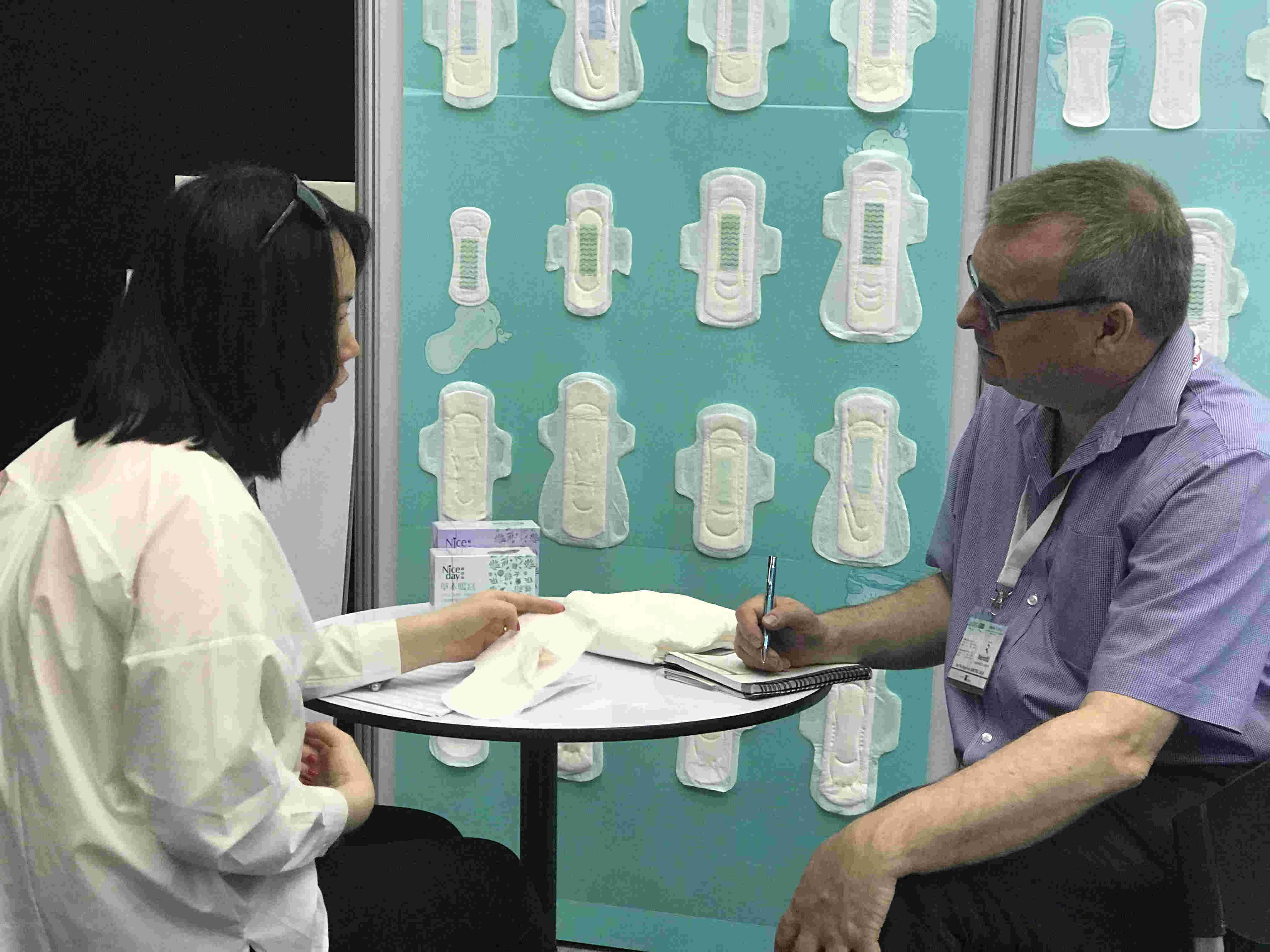 Niceday Superior bio organic sanitary pads natural america 100% cotton sanitary pads in factory price  image2
