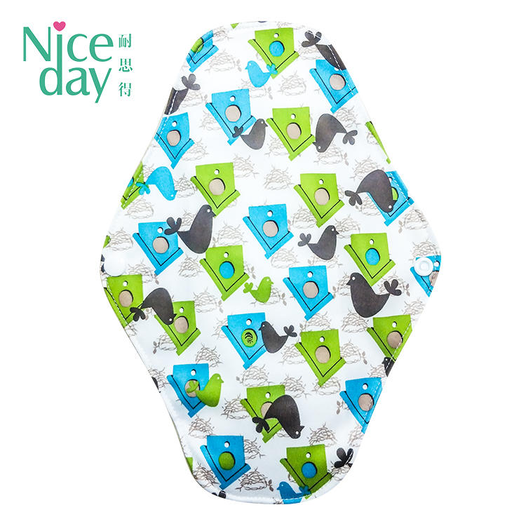 Printed cloth menstrual pads wholesale sanitary pads washable sanitary pads NDRU-1-7 F-Niceday