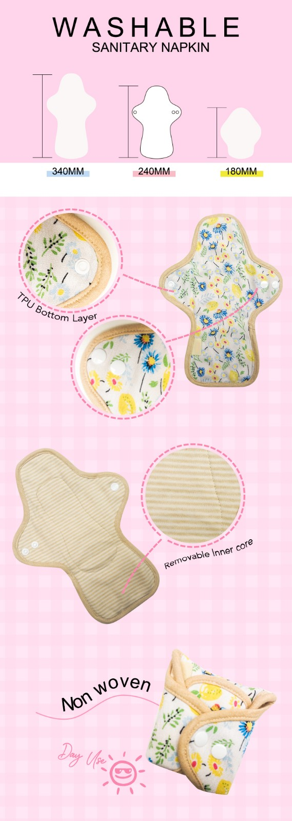 Niceday leak low cost sanitary napkins accept for baby-4