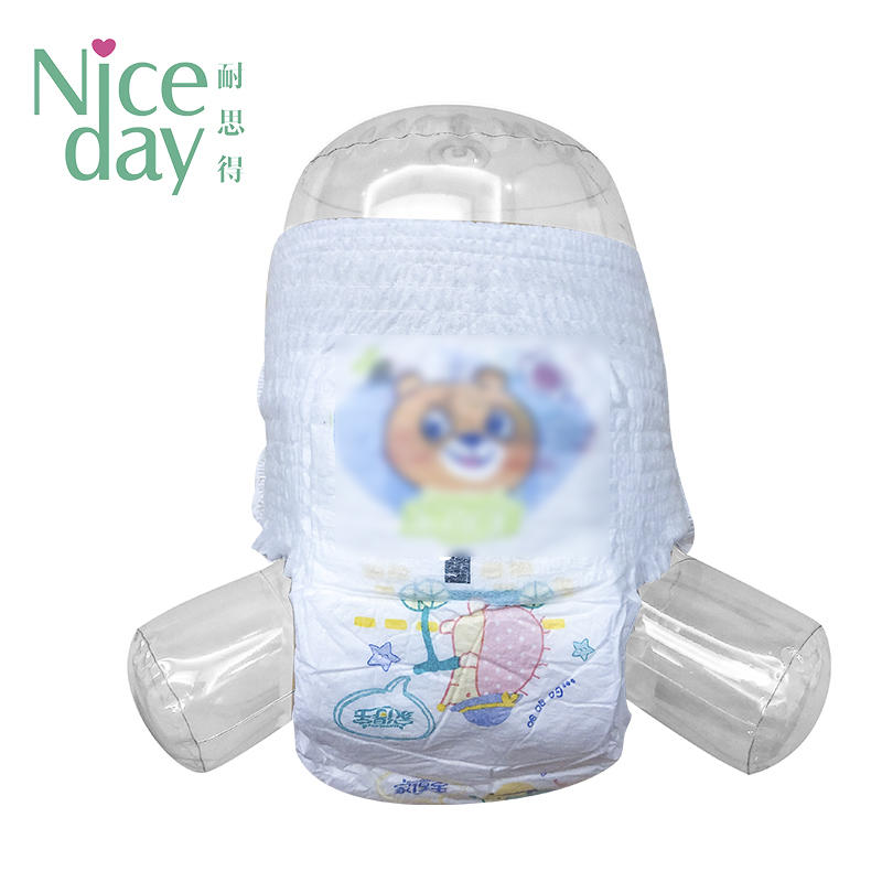 Pull up baby diapers ultra soft baby diaper pants manufacturers NDPUE-1-Niceday