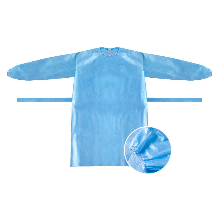 Disposable isolation gown AAMI LEVEL II surgical gown
