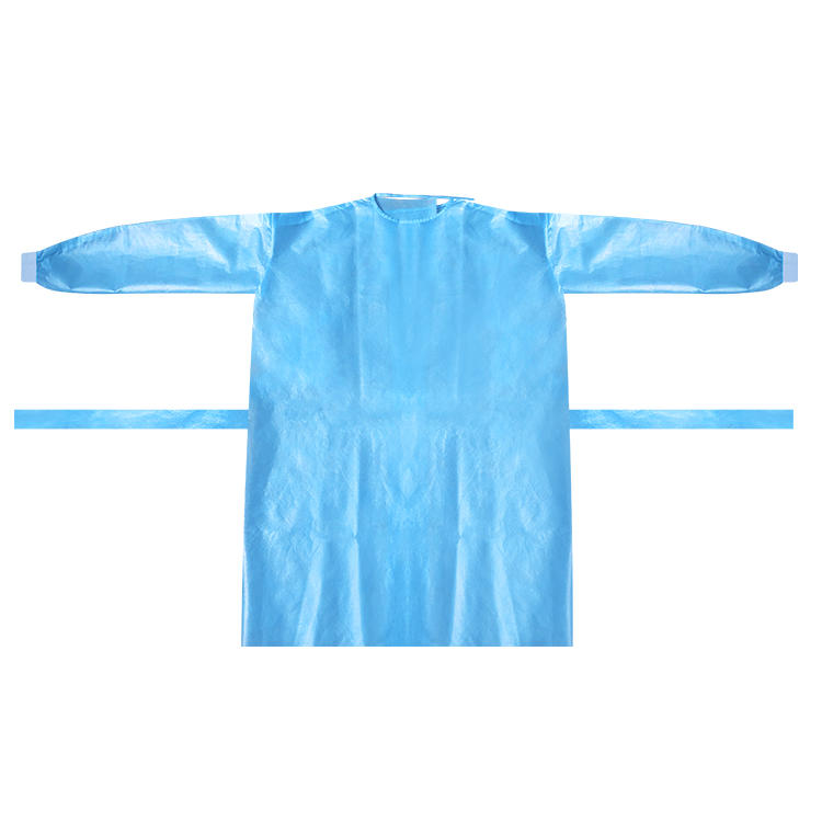 Disposable gown AAMI LEVEL Ⅱ surgical gown plastic isolation gown