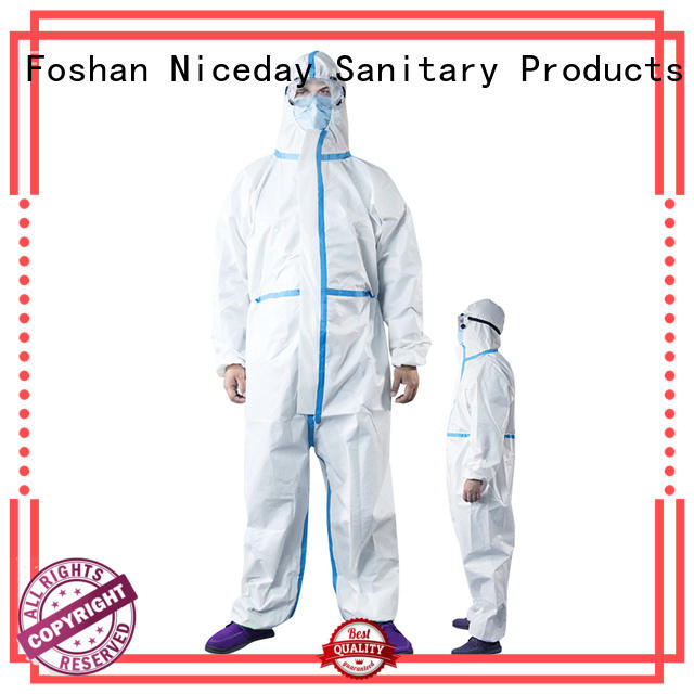 Niceday quality coveralls supplier for virus prevention