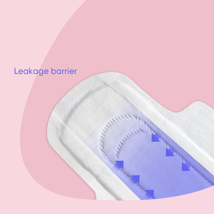 Compostable Texas organic cotton sanitary pads ultra-thin menstrual pad manufacturer NICEDAY-O-1-245