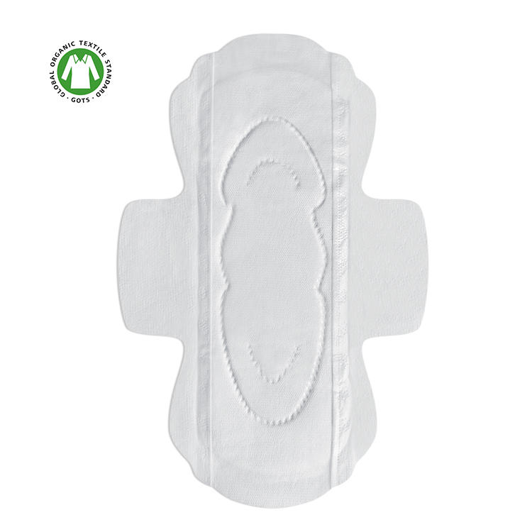 Hypoallergenic organic sanitary pads GOTS certified cotton heavy flow period pad NICEDAY-O-5-245