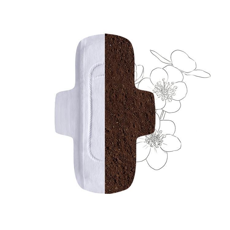 Compostable sanitary napkins