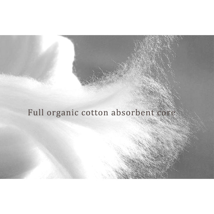 Private label 100% biodegradable organic cotton sanitary pad hypoallergenic eco maternity pad
