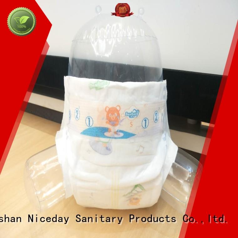 Niceday breathable diaper brands production for baby
