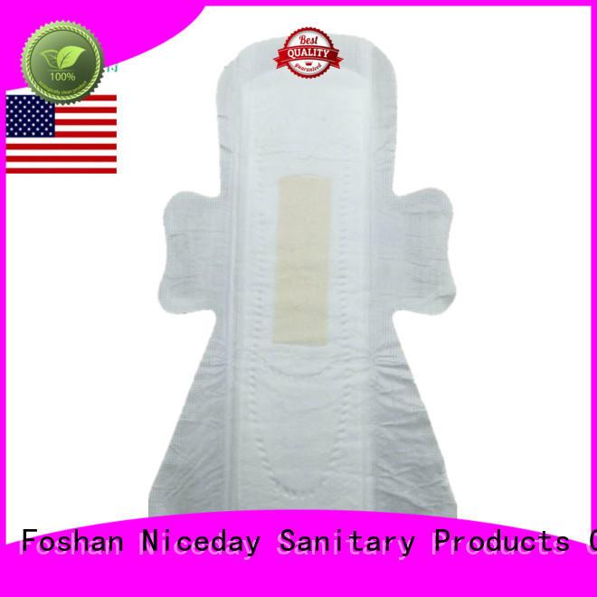 Customized disposable sanitary napkin overnight lady care biodegradable negative ion sanitary pad  NDGenial-1-3-Niceday