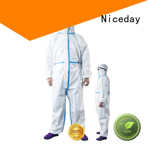 Niceday disposable hooded coveralls manufacturer for hospital