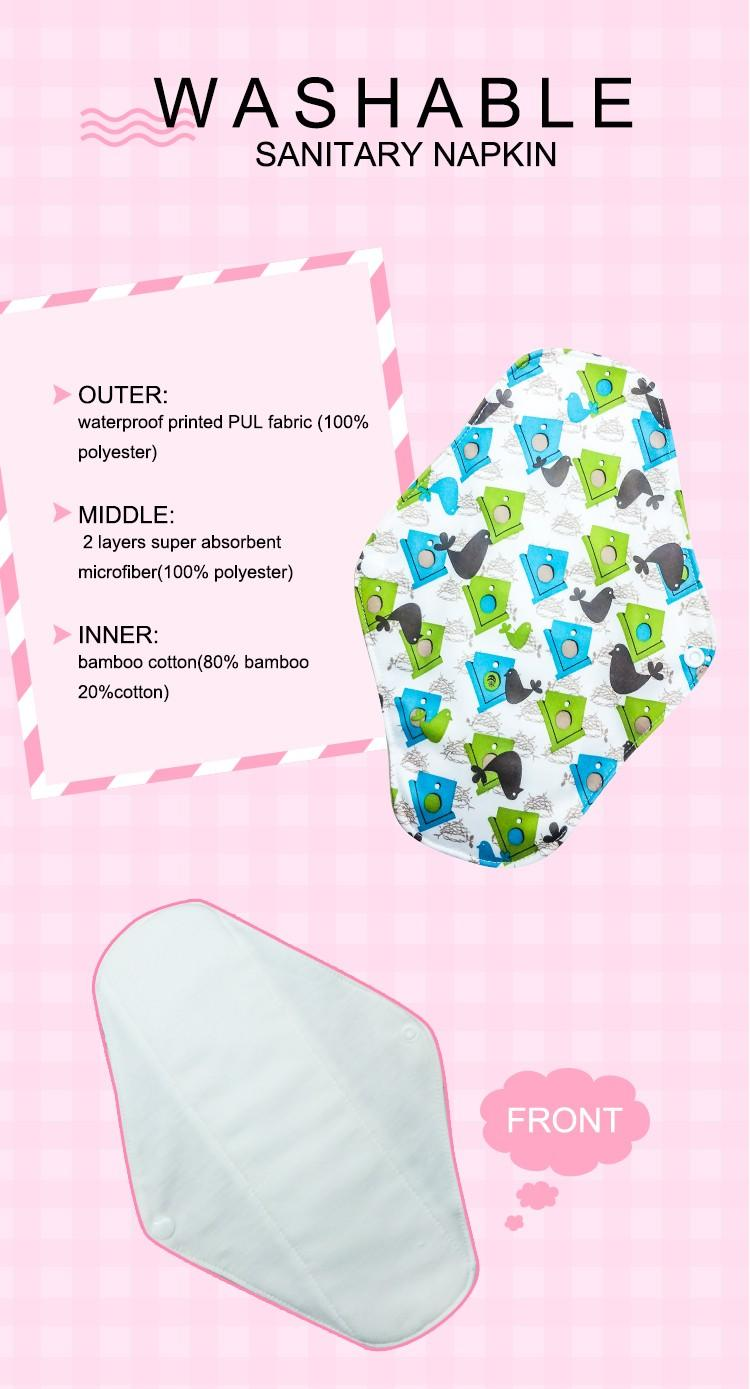 Niceday brand reusable sanitary napkins quality for women-3