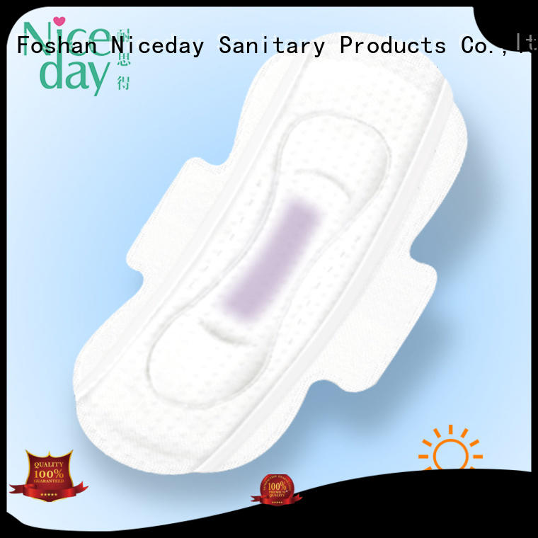 Niceday negative thin period pads manufacturing for ladies