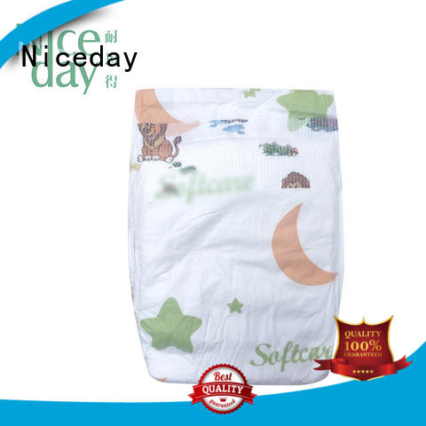 Niceday leak-proof cheap newborn baby diapers smart for baby