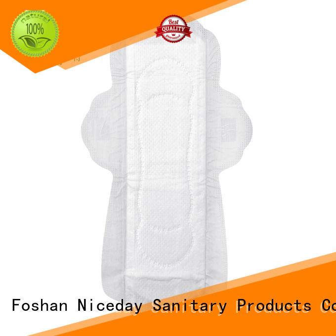 Niceday black disposable sanitary napkin wholesales for female
