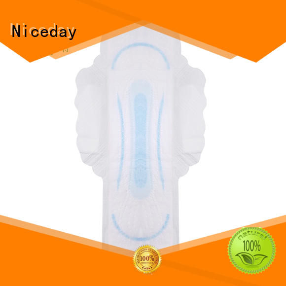 Niceday perfume sanitary pads brands perforated for female