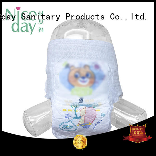 Niceday biodegradable organic baby diapers disposable line for baby
