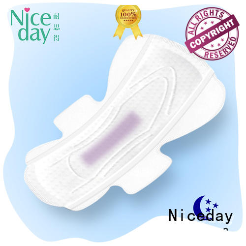 Super high absorbent night use color sanitary pad with negative ion good quality sanitary towels Manufacturer NDYH-1-3-Niceday