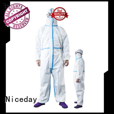 Niceday great disposable hooded coveralls manufacturer for virus prevention