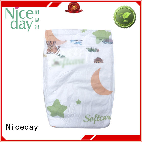 Niceday biodegradable best newborn nappies material for baby girl