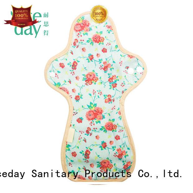 Niceday cloth reusable sanitary napkins colorful for women