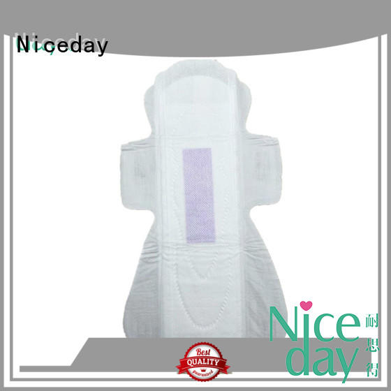 OEM  non woven fabric sanitary napkin overnight lady care blue chip  sanitary pad export to Tanzania ND20181-27-Niceday