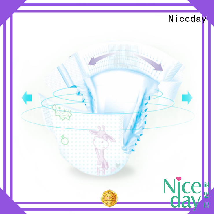 Niceday biodegradable baby diapers at cheapest rate organic for baby girl