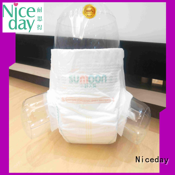 Niceday leak-proof organic diapers super for baby girl