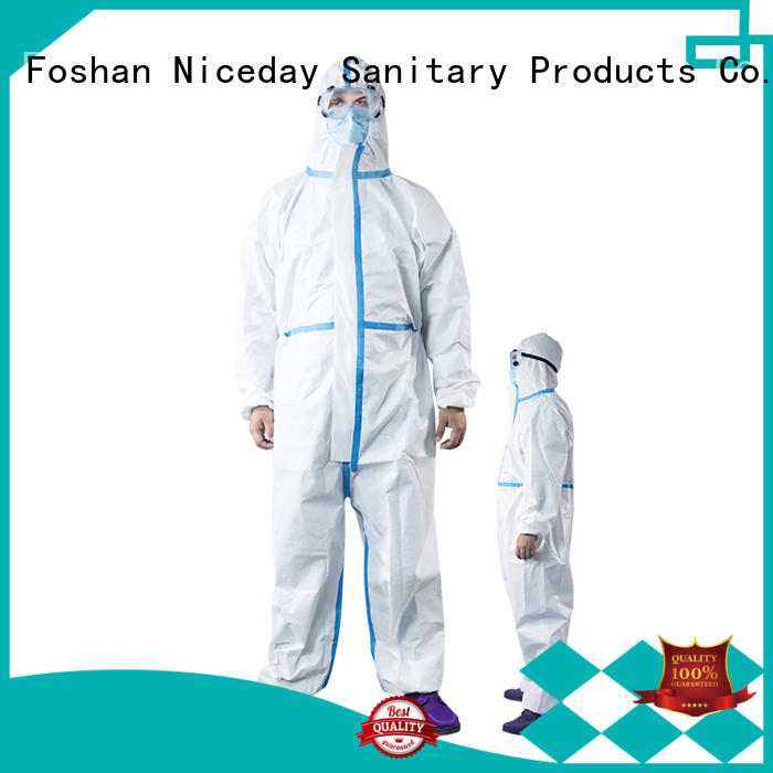 Niceday good quality green disposable coveralls manufacturer for nurses